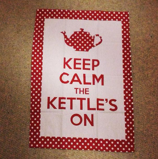 Keep calm teatowel