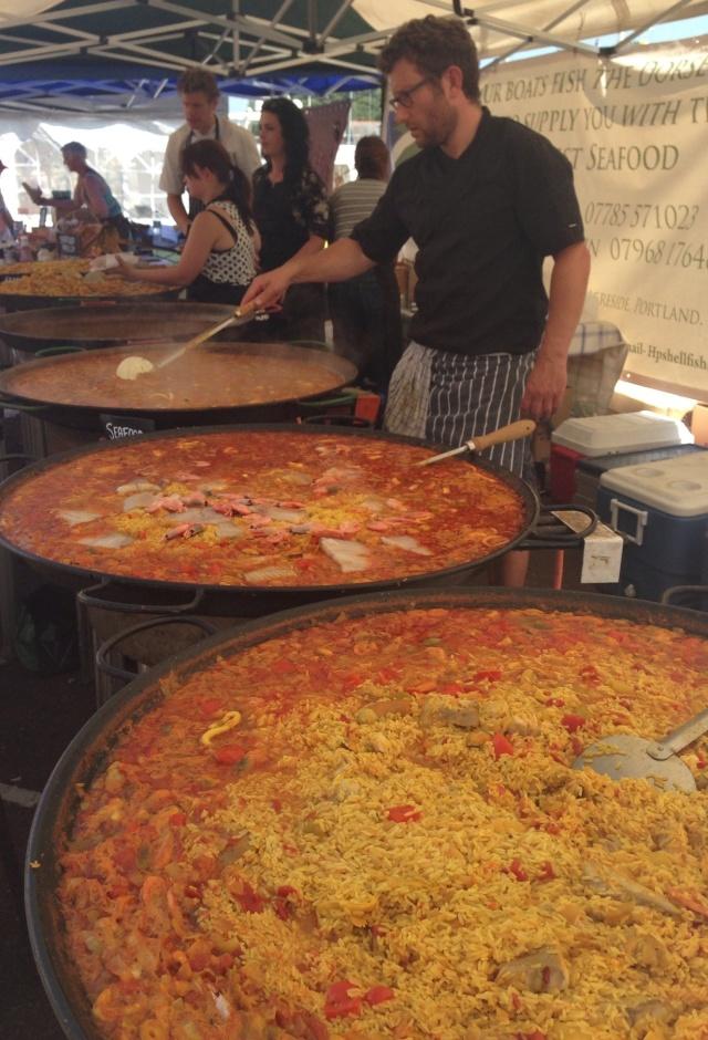 Seafood paella at the Dorset Seafood Festival