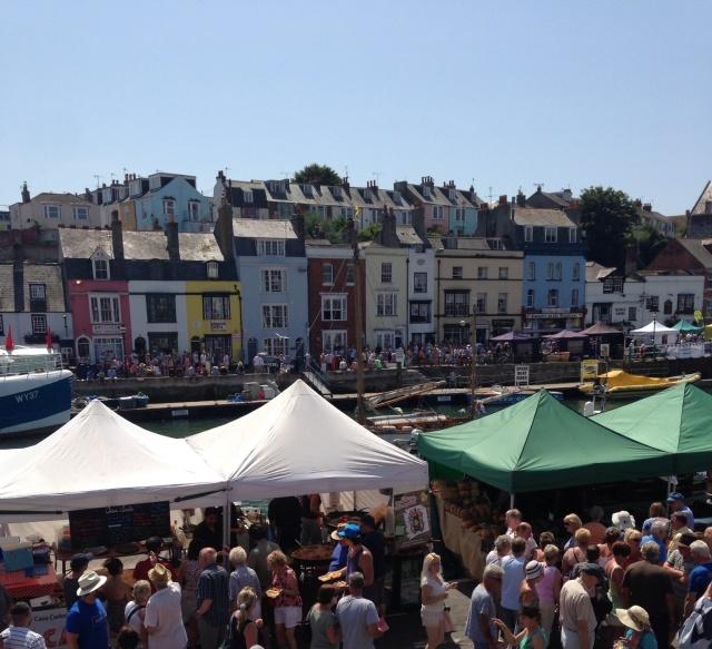 Dorset Seafood Festival stalls