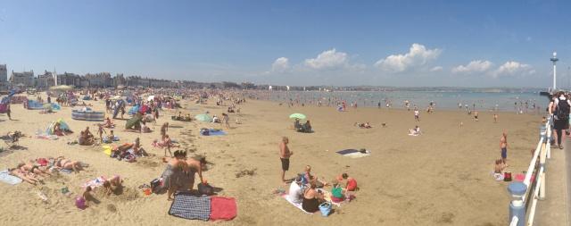 Panoramic view of Weymouth Beach