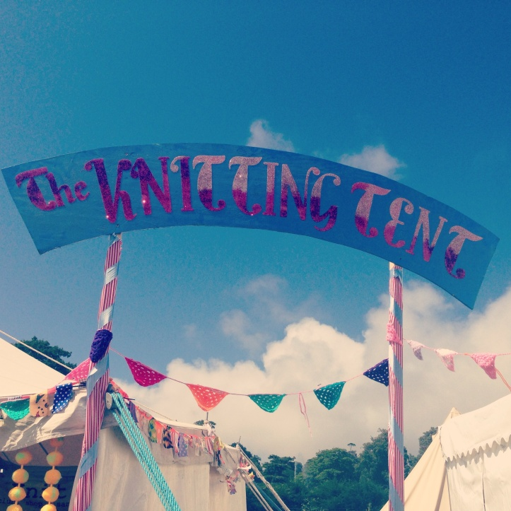 The Knitting Tent at Camp Bestival 2013