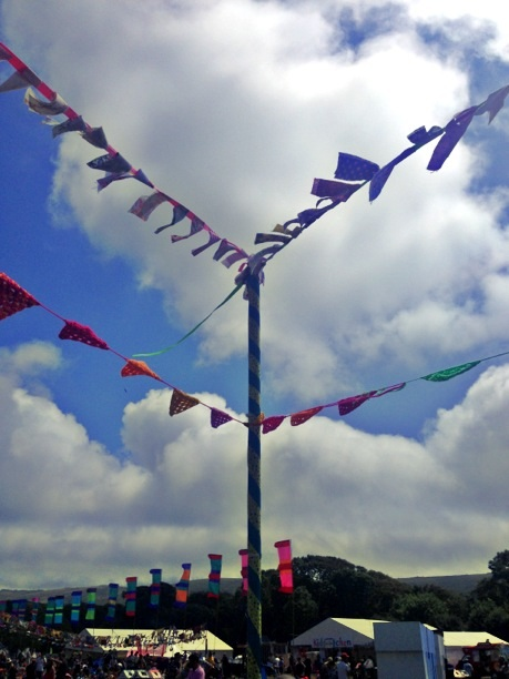 Bunting outside the Knitting Tent