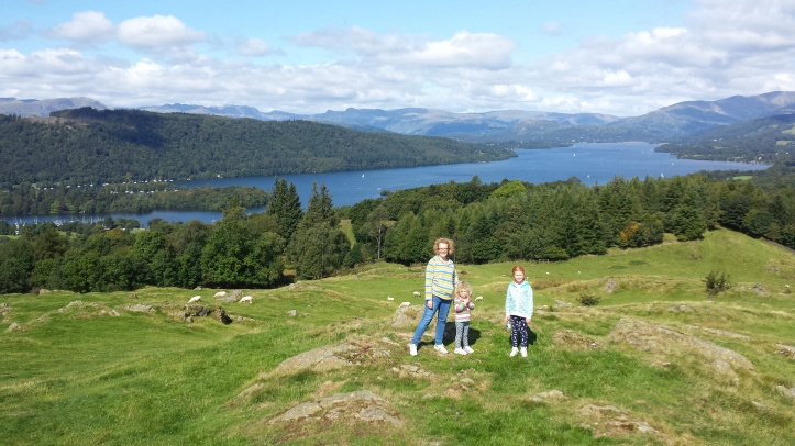 Panoramic view from the top of Brantfell, above Bowness-on-WIndermere