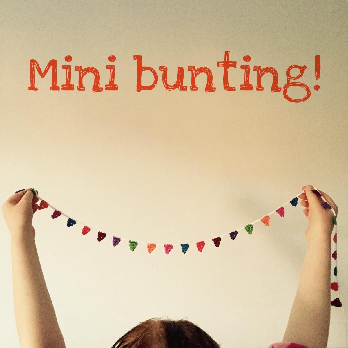 Mini crochet bunting